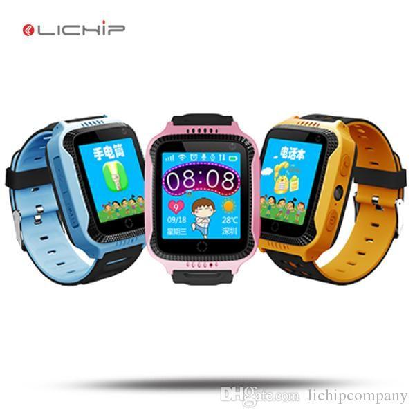 LICIHP L321 Kids GPS watch with sim card touch screen q529 q528 lamp light smart watch phone