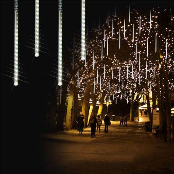 Waterproof 30cm 50cm 80cm 8 10 Tube Meteor Shower Rain Led String Lights Outdoor Christmas Garland For Wedding Garden Decoration String Bulb Lights