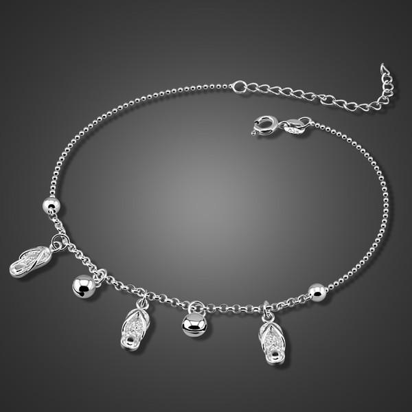Yeni Moda top Halhal. Güzel halhal kadın katı 925 silver.28 cm ayakkabı kolye halhal. Slingling gümüş kız takı