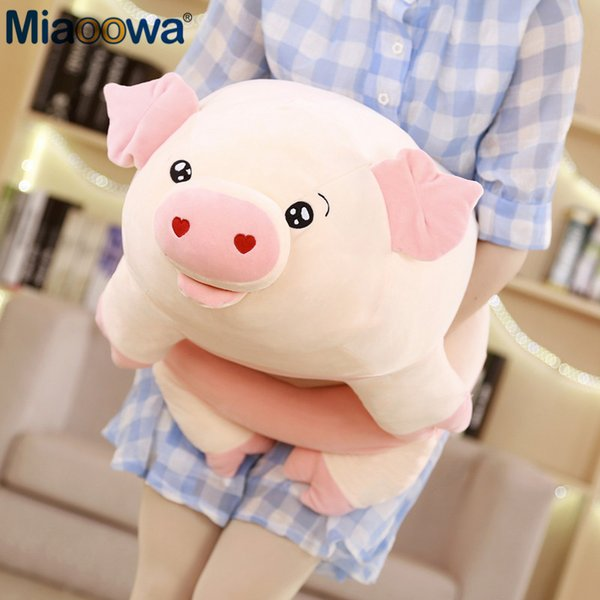 50/60/80cm Cute Pink Pig Plush Toys for Children Chinese Zodiac Pig Doll Soft Fat Pig Pillow Cushion Kids Girls Birthday Gifts