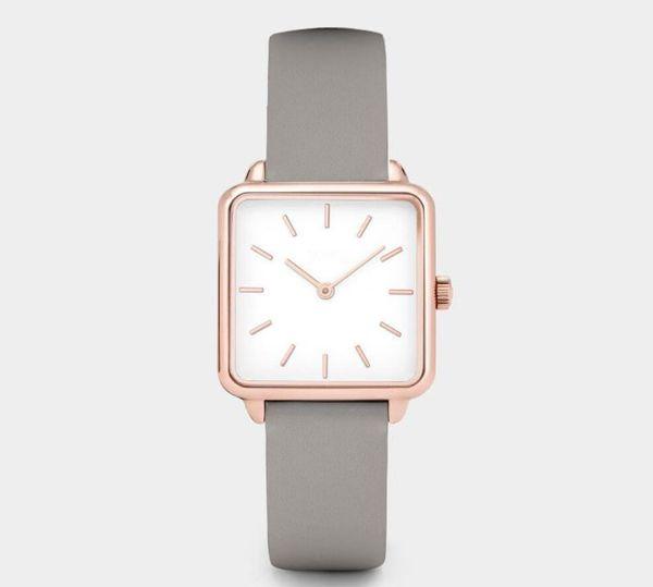 Nuove donne orologi di lusso orologio di marca in acciaio inossidabile Cinturino in pelle banda quadrante abito casual orologio da polso regalo di affari per gli uomini orologio relojes