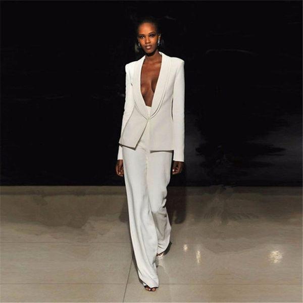 Women's fashion slim temperament suit two-piece suit (jacket + pants) business formal wear support custom