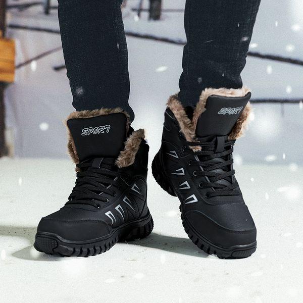 ftrochb 2019 winter men snow boots outdoor non-slip walking shoes comfortable keep warm men boots waterproof 47 48 - from $59.00