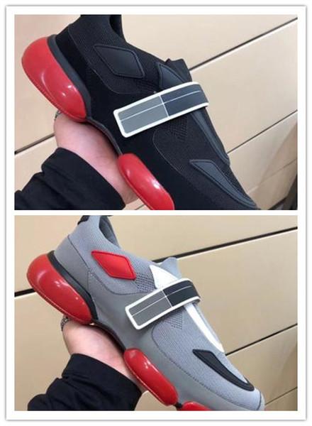 Qualidade máxima! Cloudbust calçados casuais marca designer de tênis sapatos casuais homens mulheres de couro genuíno colar de moda sapatos n2