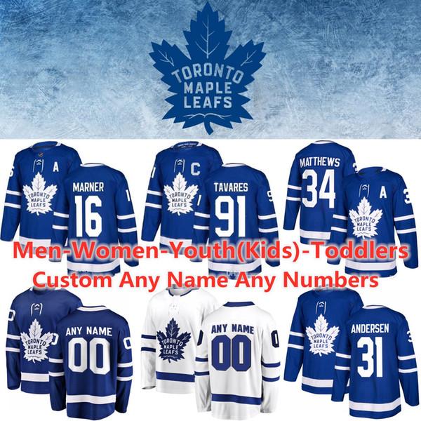 Toronto maple leaf jer ey 91 john tavare 16 mitchell marner 34 au ton matthew frederik ander en morgan rielly jake muzzin hockey jer ey, Black;red