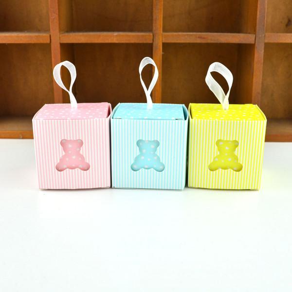 50pcs Orso europeo Hollow scatola di favore e borse dolce regalo fai da te di caramella per il neonato compleanno creativo ospiti forniture da parte T200115
