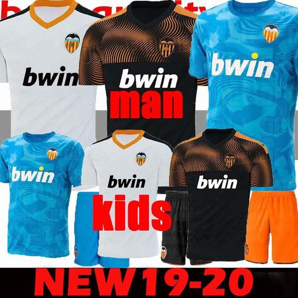 Neu 2019 2020 Valencia Fußball Trikot Fußball Trikot 2019 2020 Kinder Valencia Beste 3A Qualität Fußball Trikot Parejo Batshuayi Gameiro