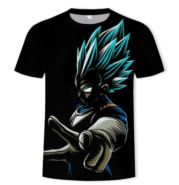 New Short Sleeve Dragon Ball 3D Digital Print Men's Round Neck Short Sleeve T-Shirt