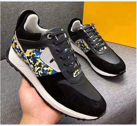 2019 calidad superior FD marcas de lujo FUN FUR diseñador zapatillas zapatos de cuero genuino regalo para hombre mujeres Racer venta caliente deportes botas casual New18904