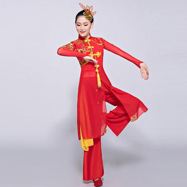 Hmong-ethnischer Arttanz der chinesischen Frau des Hanfu-yangko-Kostüms weiblicher Erwachsener für Frau
