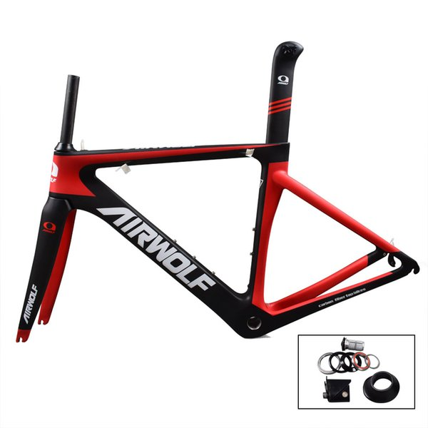 Airwolf 700C 3K mechanial & Di2 carbon road frame 48/51/54/56cm V brake road bike frame DIY road bike carbon frame