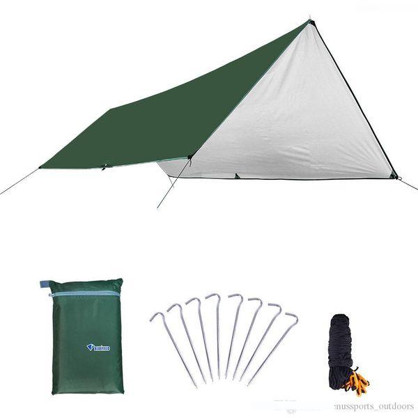 Tenda da campeggio impermeabile Mat 3 * 4M materasso esterna in tessuto multifunzione tenda Tarps Canopy stuoia di picnic della terra Mats