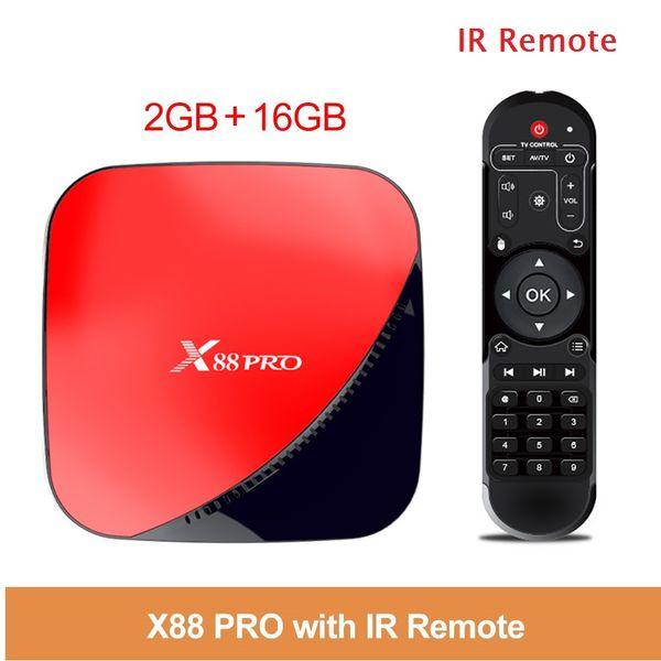 X88 Pro Android 9.0 TV Box 2G16G RK3318 2.4 G / 5G Wifi Smart TV box VS TX6 X96 mini