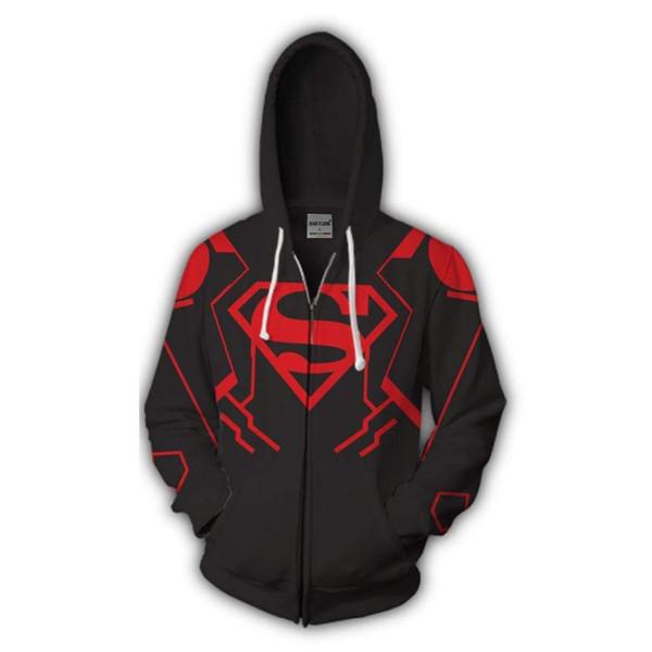 BIANYILONG 2019 yeni Zip Hoodie adam Superboy baskılı hoodies eşofman Rahat fermuar hoody hip hop tops