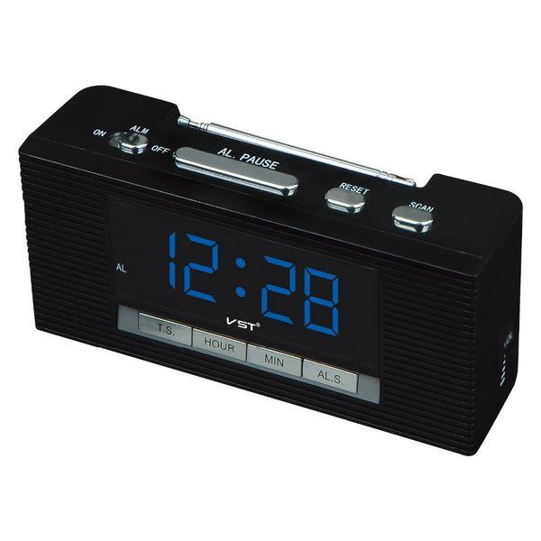 radio 2017 Led Alarm Large Display Radio With Snooze Function Big Number Table Clocks Ac Power Desktop Clock