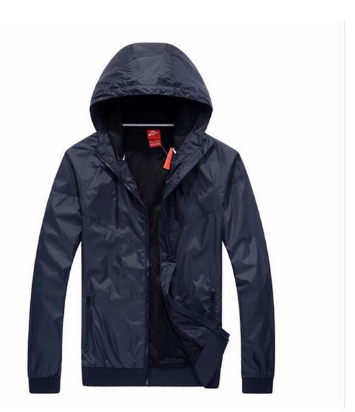 2019 Athletic Men Women Jacket Fall Casual Sports Wear Clothing Windbreaker Hooded Zipper Up Coats Asian Size Need Two Size UP wholesale