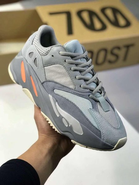 sports shoes 240c2 d33cf Yeezys Yezzy Yezzys Yeezy 700 With Box 2019 Top Quality Salt Inertia Wave  Runner 700 V2 Static Mauve 3M Material Men Women Kanye West Running Shoes  ...