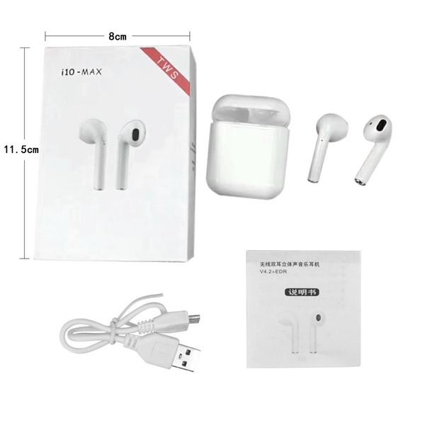 fee6c94be83 I10Max TWS fone de ouvido bluetooth v5.0 fones de ouvido estéreo i10 max  fone de ouvido com caixa de carregamento para iphone android telefone