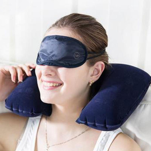 neck U Shaped Travel Neck Pillow Inflatable Portable Car Headrest Soft Air Cushion for Home Office Travel Airplane