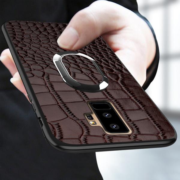 Etui en cuir véritable pour Samsung A50 A70 A40 A30 A8 A7 2018 Couverture de recul magnétique de luxe pour Galaxy S10 S9 S8 S7 Plus rétro J190702
