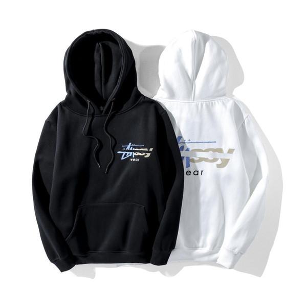 Stussys nouveaux hommes sweat à capuche hoodies de créateurs de luxe de la mode rue sweat-shirt coulissant Jiarong lettre impression femmes pullover pull Loisirs quelques