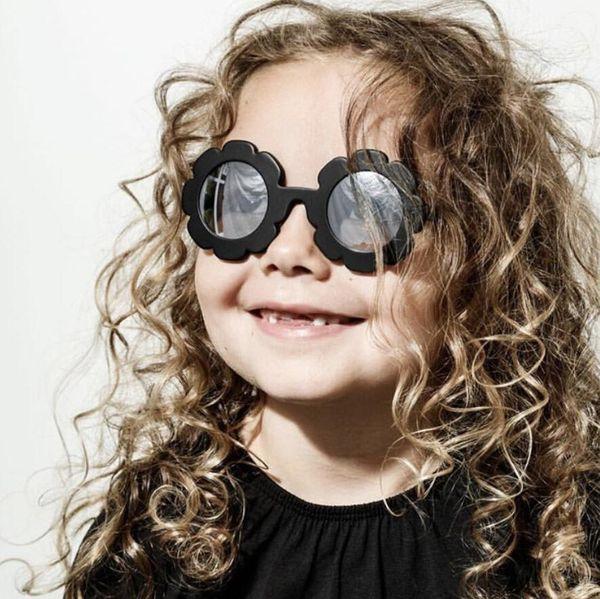 2019 bonito sol flor rodada óculos de sol para crianças meninos meninas sol flor criança óculos com proteção uv 6 cores escolher