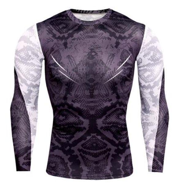 Neue Designer Mens Compression T Shirts Männer Turnhallen Enge Unterhemd Workout T Tops Snake Print T-Shirt Muscle Fitness Shirt Männer Rashgugard