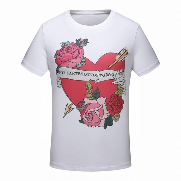 2019 nouvelle explosion modèles coton chemise d'été personnalité décontractée T-shirt à manches courtes hommes mode haut de gamme beau mâle 6073