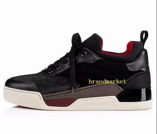 Designer Chaussures Mode Couleurs mélangées Low Cut Parti Noir Rouge Chaussures de mariage Drop Shipping New Designer Plaid Sneaker Homme Chaussures Casual