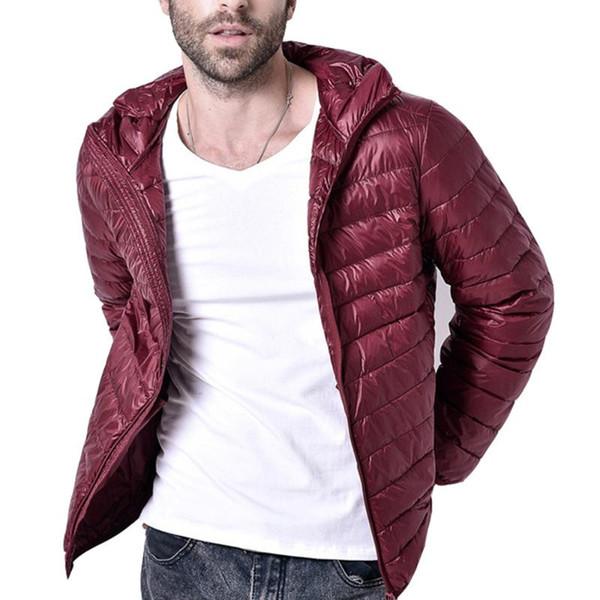 Giacca invernale caldo uomini 2019 nuovo modo Stand Collar Parka maschile Mens solida e spessa giacche e cappotti Uomo Inverno Parka