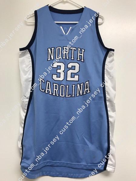 Ucuz özel Rashad McCants # 32 UNC Tar Topuklu Basketbol Forması Dikişli Herhangi bir sayı adı Özelleştirmek ERKEK KADıNLAR GENÇLİK XS-5XL