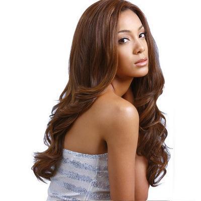 Длинные волосы 2019 новое поступление синтетические парики для женщин ежедневно большие волны черные коричневые кудри парики 65-70 см