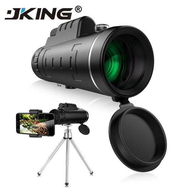 Lens For Phone 40x60 Zoom For Smartphone Monocular Telescope Scope Camera Camping Hiking Fishing With Compass Phone Clip Tripod J190704
