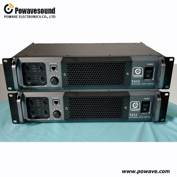 Audio processor power amplifier 2 in 4 out 1300W digital power amplifier DSP module inside D class amplifier