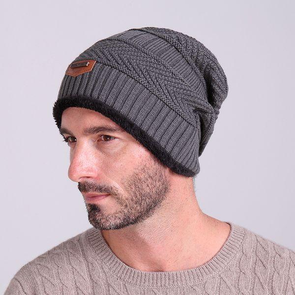 New winter outdoor headwear beanies wool caps velvet warm knit hat men women hooded hats fashion beanies for sale