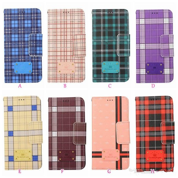 Étui portefeuille de luxe en cuir de marque pour Iphone XR XS MAX X 10 8 7 Plus 6 SE 5 5S hybride téléphone vertical Flip Cover British Style sac à main