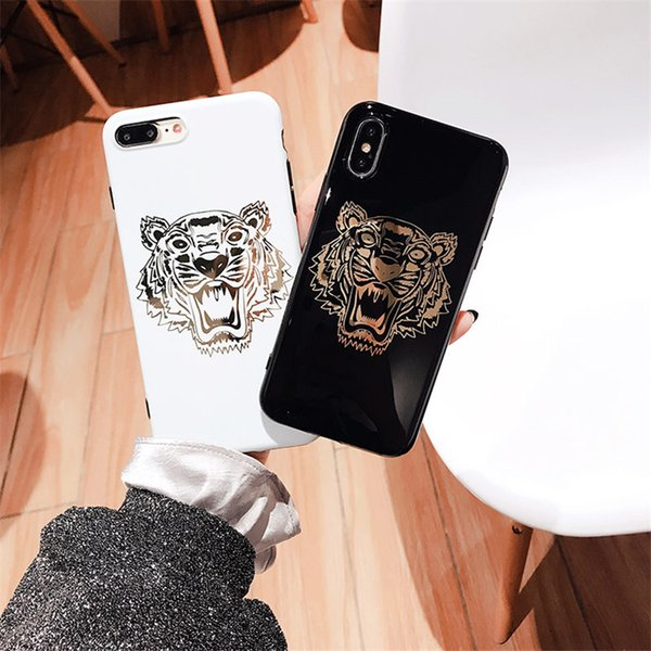 New Hot stamping Tiger phone case For iPhone XsMax Xr Xs 7plus 6 6Splus 8 8plus X Mobile phone shell Deliver beautiful packaging