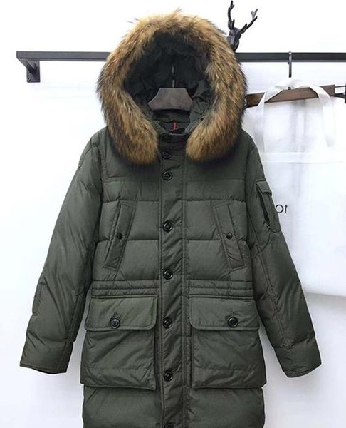 Top qualité Mens Designer Veste Manteau Automne Hiver épais long manteau à capuchon bas Mode Canda Veste Outdoor Sport Vestes Taille asiatique