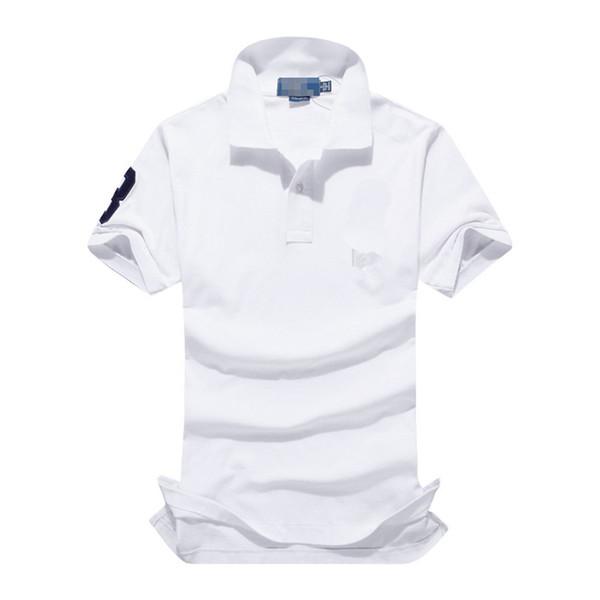 Bordado de verão Designer de Camisa Polo Grande Cavalo Dos Homens de Manga Curta Camisas Dos Homens Casuais Slim Fit Polo Homme Algodão de Alta Qualidade Dos Homens Camisa Polo