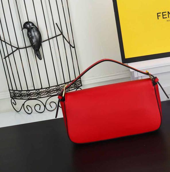 borsa a tracolla staccabile nuova borsa della busta di Natale 2019 europei e americani di moda rosso morbida pelle borsa Messenger bag