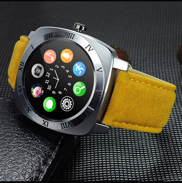 X3 Bluetooth Smart Watch Leather Bands Support SIM TF Card Camera Wearable Device Sport Music Touch Screen Smartwatch For All Android Phone