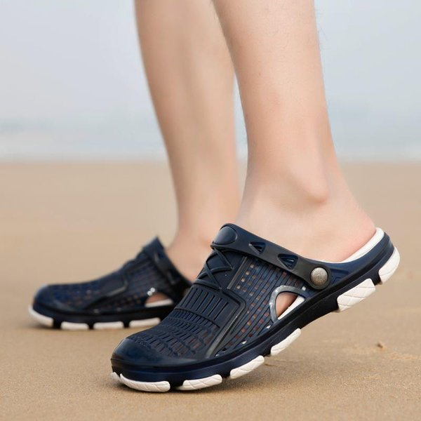 newest Slippers Designer Brand Sandals Designer flip flops Summer Hole hole shoes Wide Flat Slippery beach Wading shoes Slipper Flip Flops