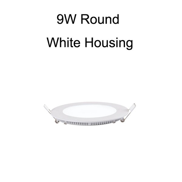 9W Round White Housing