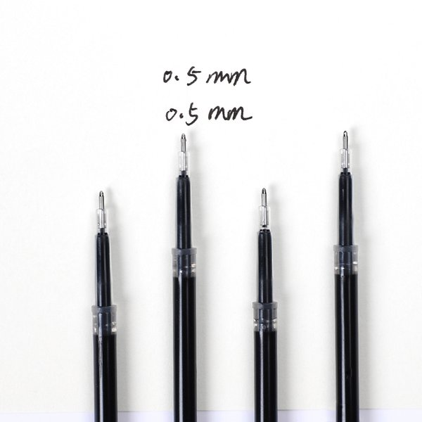 JIANWU 0.5mm 20pcs / set Creativo di grande capacità penna gel Ricarica dianshi Ricarica rapida forniture per ufficio