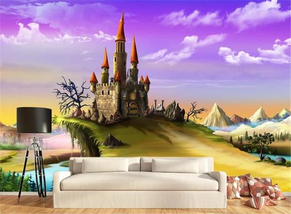 Großhandel 3d Tapete Für Küche Fantasie Schloss Cartoon Animation  Kinderzimmer Hintergrund Wandbild Tapete 3d Landschaft Tapete Von  Yunlin189, $28.15 ...