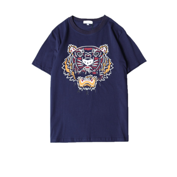 Summer Designer T Shirts For Men Tiger Head Brand tshirts with letters Printed Crew Neck Luxury Mens Shirt Tops Short Sleeve Tee Clothing