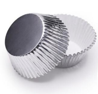 Baking Gold/Silver foil paper holder medium oil cake Medium Cupcake liner Muffin Liners Papers Baking Cups cakecup 3.5cm