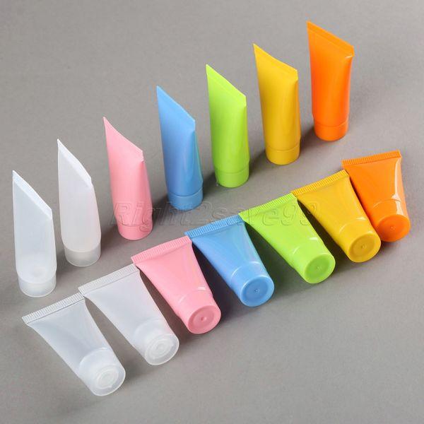 300 unids Cosmético Tubo Suave 5 ml recipientes de loción de plástico Maquillaje vacío tubo exprimible Embilable Emulsión Crema Empaquetado