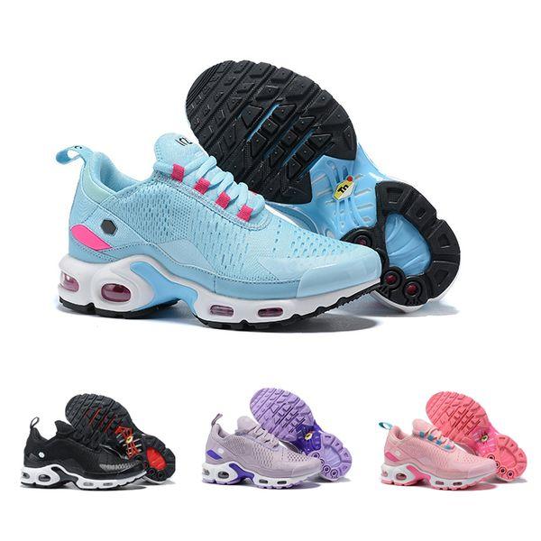 2019 Nouveau Pas Cher Tn Plus x 27 Bleu Rose Violet Noir Blanc Chaussures De Course Pour Femmes Designer Sport Baskets Casual