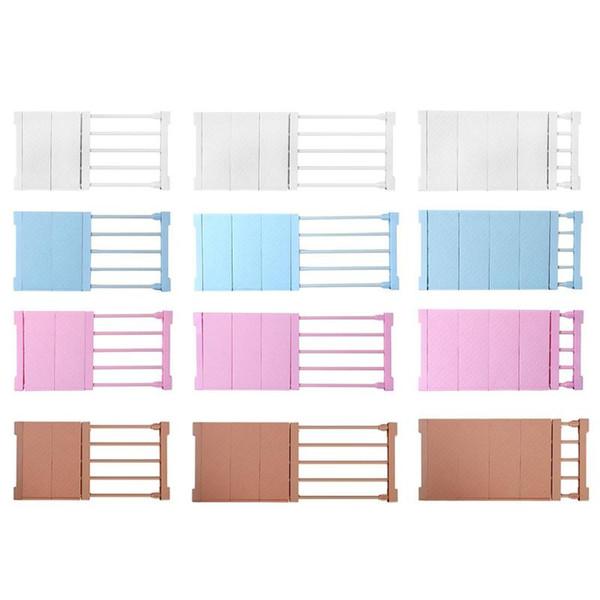 Adjustable Closet Organizer Storage Shelf Space Saving Wardrobe Cabinet Shelves Holders Retractable Cabinet
